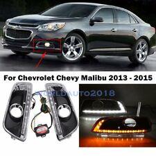 DRL LED Daytime Running Light Fog Lamp W/ Turn Signal For Chevy Malibu 2013-2015
