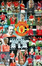 Rare Manchester United HISTORIC LEGENDS 1950-2000 Soccer Football POSTER