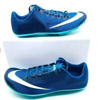 Nike Mens Zoom 400 Track Spikes Blue AA1205-400 Low Top Lace Up Shoes 12 M New