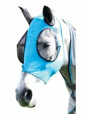 Professional's Lot of 3 Choice Comfort Lycra Fly Mask Cob Pacific Blue 500-800#