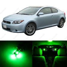 8 x Green LED Interior Lights Package For 2005 - 2007 Scion TC + PRY TOOL