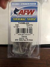 Afw Terminal Tackle Thimbles Size 1/16� 10pcs New