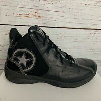 Converse Wade Team Mens sz 10 Black Silver Shoes Patent Basketball Athletic