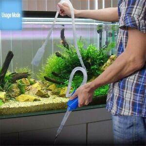 143CM Aquarium Vacuum Siphon Pump Cleaner Semi-automatic Acuario Water Changer