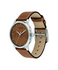 New Coach Grand Women's Brown Leather Watch 14502972 36mm