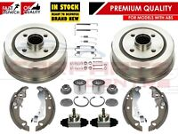 FOR CORSA C MK2 REAR BRAKE DRUMS SHOES FITTING KIT BEARINGS CYLINDERS WITH ABS