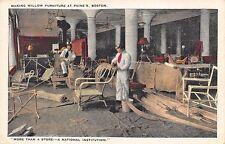 Boston MA Paine Furniture Co. Making Willow Furniture Postcard