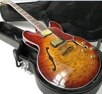 2018 Top Quality Semi Hollow Body 335 Electric Guitar 5A Quilt Maple Grove Tuner