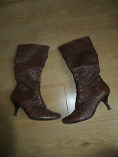 bronx brown low heel  boots  size 5