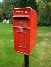 Royal Mail Post Box ERII post box & POWDER COATED STAND POST