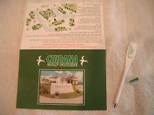 GOLF SCORECARD OKINAWA JAPAN CHIBANA G.C. w/PENCIL & BALLMARKER asia score card