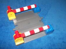 Lego Duplo Eisenbahn kompletter Bahnübergang Alt dunkel Grau Schranken 2740 Rar