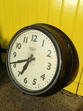 More details for huge vintage smiths factory industrial clock metal case rare