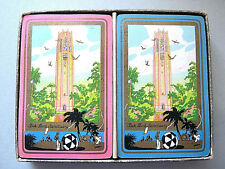 BIRD SANCTUARY BOK TOWER 1930s 2 X 52 CARDS +BOX PLAYING CARDS VINTAGE TWIN DECK