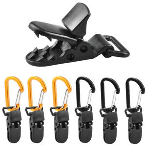 1//3//5//10x Awning Tent Clamp Tarp Clips Set Canopy Snap Hangers Survival Camping
