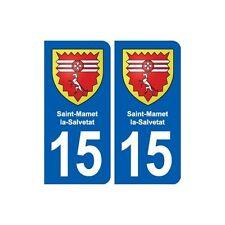 15 Saint-Mamet-la-Salvetat blason ville autocollant plaque sticker droits