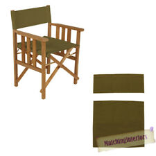 Olive Director Chairs Replacement Polyurethane Coated Canvas Covers Garden