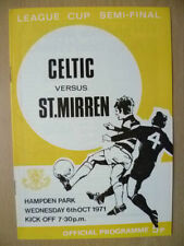 Teams S-Z Final Football Scottish Fixture Programmes (1970s)