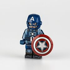 ⎡DRAGON BRICK ⎦Custom Captain America Lego Minifigure