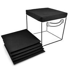 Sorbus Foldable Storage Cube Basket Bin Covers, Black - 6Pk