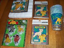 5pc Lot Contempo Lion King Simba Nala Birthday Party Goods Multi-color NOS