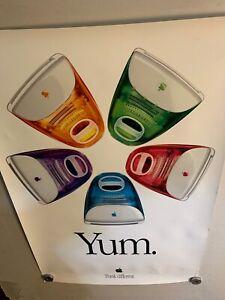 "Apple iMac Yum  Poster Think Different  - 24"" x 36"" - MacWorld Expo 1999 - NM"