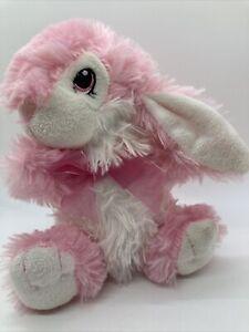 "DanDee Bunny Pink Easter Rabbit Plush Stuffed Hoppy Hopster Doll Toy 7"""