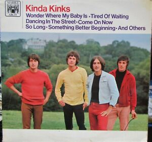 THE KINKS KINDA KINKS LP Marble Arch Re-issue 1969