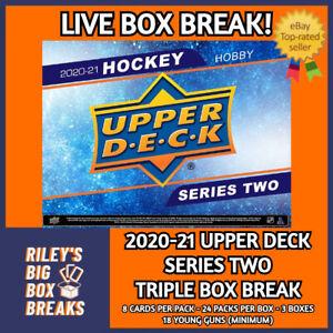 20-21 UPPER DECK SERIES TWO (x3) TRIPLE HOBBY BOX BREAK #151 - PICK YOUR TEAM!