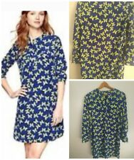 Gap Women's NWOT Tunic Shirt Butterfly Dress Small Blue Green Polyester New