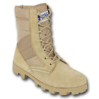 JUNGLE PATROL COMBAT BOOTS DESERT ARMY TACTICAL MILITARY HIGH LEG SUEDE NYLON