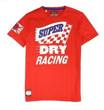 Superdry Mens T-Shirt Red Size Large L Winning Streak Racing Tee $38 #076