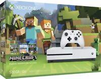 New Microsoft Xbox One S Minecraft Favorites Console Bundle 500GB/Go 4K White