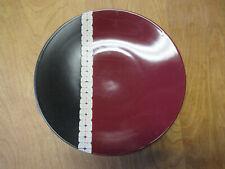 """Pfaltzgraff EASTSIDE Dinner Plate 11 1/4"""" Black Burgundy     12 available"""