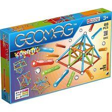 Geomag Confetti Magnetblöcke Magnetstäbe Metallkugeln Konstruktionsspielzeugsset