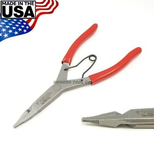 """Wilde 9"""" Straight Lock Ring Pliers Snap Retaining Ring Satin Finish Made in USA"""