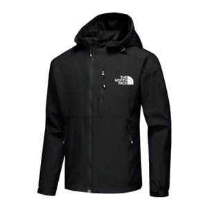 UK Men Full Outdoor Jacket Zip Coat Casual Autumn Soft Shell Coat New 2021