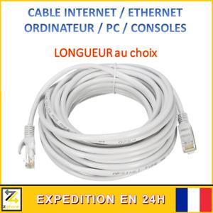 Cable INTERNET ORDINATEUR PC PORTABLE RJ45 ETHERNET Fil Xbox 360 One Serie X