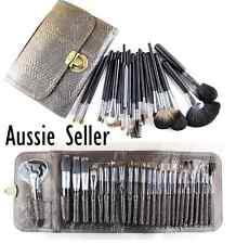 Professional Makeup Brush Kit Set 26 Eyebrow Shadow Cosmetic Make Up leather bag