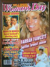 Woman's Day Magazine January 21, 1992 Farrah Fawcett, Peter Allen Marilyn Monroe