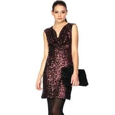 BNWT 14 FRENCH CONNECTION RUST RED WINE SAM SEQUIN  PARTY COCKTAIL DRESS XMAS