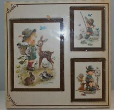 Giordano Children Animals Pictures Set of 3 Vintage