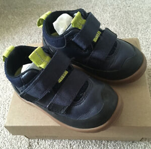 Clarks Toddler Shoes UK 4G EU20 Blue Green Leather