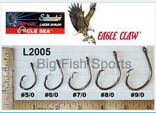 50 EAGLE CLAW CIRCLE SEA Saltwater Fishing Hooks 7/0 SZ #L2005F FREE USA SHIP!