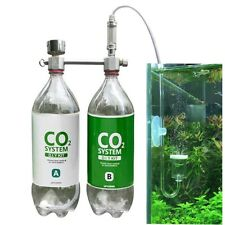 CO2 Generator System DIY Kit for Aquarium Water Plants Pressurized Gauge Counter