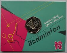 2012 London Olympic Games 50p Sports Collection Uncirculated Coin Badminton