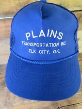 Plains Transportation Elk City Oklahoma Vintage Trucker Snapback Adult Hat Cap