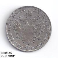20 Kreuzer 1846 C Prag Ferdinand I. - Österreich Austria Silber