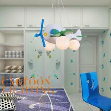 Cute Plane Pendant Light Kid Child Bedroom Ceiling Lamp Boy Fly Chandeliers