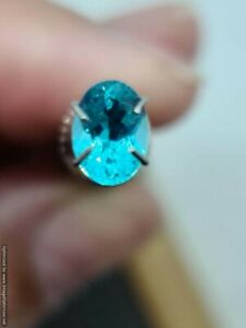 Apatite Blue Green Oval 0.75 Carat Natural Gemstone